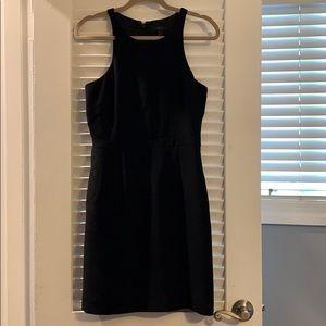 Black JCrew work dress - flattering cut!